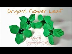 How To Make Origami Flower Leaves   Tutorial By OrigamiPaperCraft - YouTube
