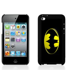 "iPod Touch 4th Generation Hard Case ""Batman Yellow Logo"". $14.99, via Etsy."