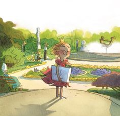 Where is he going to read the princess? / A dónde va a leer la princesa? (ilustración de Uwe Heidschötter)