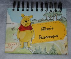 Winnie the Pooh Personalized Autograph and Photo Book by DreaminOfWarmPlaces on Etsy