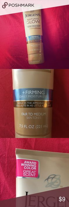 Jergens Self Tanner Only tried once.  For fair to medium skin tones. Awesome product for a natural looking healthy tan and bronze glow.  This brand is award winning for self tanners.  Full size 7.5fl oz Makeup