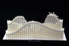 #papercraft #papercutting #papersculpture. roller coaster Pop-Up paper craft  http://youtu.be/j8a96tEz-cM
