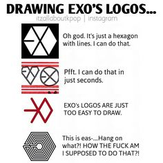 LOL EXO logos. That last one X_X no