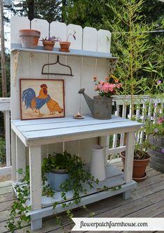 DIY fence board potting bench
