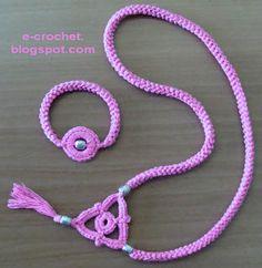 Crochet jewelry + motif