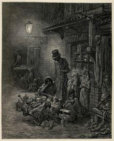 Gustave Dore: Images of Victorian London Gustave Dore, Victorian London, Victorian Life, Norman Rockwell, Fine Art Prints, Canvas Prints, Illustration Art, Illustrations, London Pictures