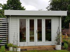 Summer House Garden, Home And Garden, Garden Log Cabins, Cabin Office, How To Build A Log Cabin, Garden Workshops, Cabin Kits, Garden Deco, Garden Buildings