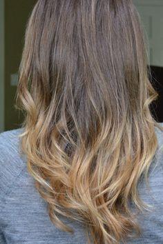 ombre hair look, diy, tutorial,