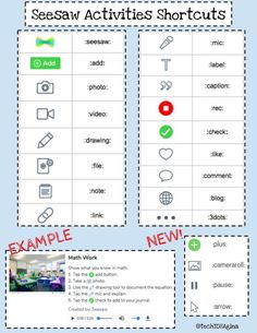 More ways to use seesaw app includes shortcuts Teaching Technology, Educational Technology, Student Teaching, Teaching Tools, Seesaw App, Online Classroom, Instructional Coaching, Blended Learning, Learning Resources