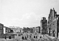 Piazza Duomo a Messina in una incisione di fine '700