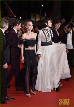 Soko & Lily-Rose Depp Premiere 'The Dancer' at Cannes 2016: Photo #3655522. Soko and Lily-Rose Depp walk the red carpet stairs as they arrive at the premiere of their new movie The Dancer during the 2016 Cannes Film Festival on Friday (May…