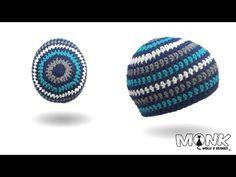 Mütze häkeln mit unsichtbaren Rundenabschluss v3 - Ringelbeanie häkeln - YouTube
