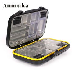 Fishing tackle boxes small clear plastic waterproof hooks lures baits box fishing accessories 71002