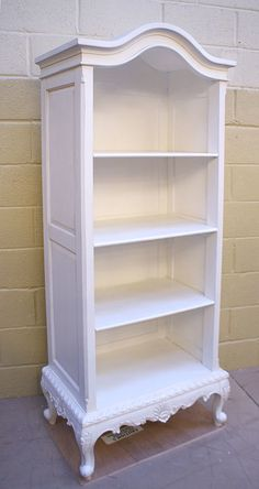 French Style White Tall Open Bookcase - Buy from the French Furniture Specialist: Nicky Cornell, Shabby Chic Furniture Specialists Painted Bedroom Furniture, Apartment Furniture, Refurbished Furniture, French Furniture, White Furniture, Repurposed Furniture, Shabby Chic Furniture, Cheap Furniture, Furniture Makeover
