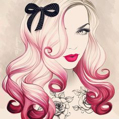 pink hair love >> Tati Ferrigno