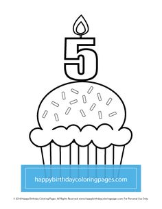 FREE Cupcake Coloring Page – Happy Birthday Coloring Pages Cupcake Coloring Pages, Happy Birthday Coloring Pages, Colouring, Cupcakes, Printables, Free, Cupcake, Print Templates, Cupcake Cakes