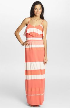 Cynthia Steffe Bailey Ruffled Stripe Maxi Dress available at #Nordstrom