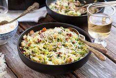 Gluten Free Zucchini Noodle Carbonara Recipe (grain free, easily made dairy free)