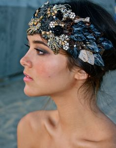 The Color Crystal and Petal Full Sized Bandeau by DolorisPetunia  $450.00