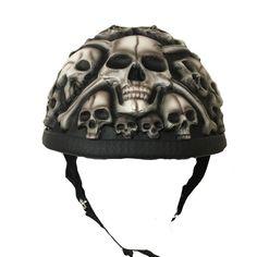 Custom Motorcycle Half Helmet White Skulls Face For Harley Davidson-Scooter