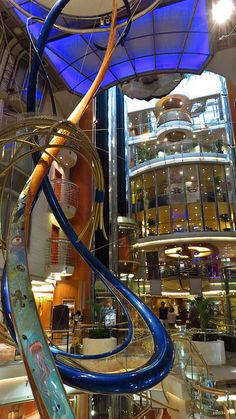 View inside the Royal Caribbean Explorer of the Seas - absolutely magnificent!