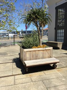 Movable planter/bench in San Francisco