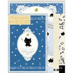 San-x Kutusita Nyanko Letter set (music) ★ natural music ★