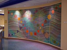 Sonia King recently finished four large mosaic murals for Children's Medical Center of Dallas. The walls, each approximately 8' high by 17' wide are be featured on four new patient floors.