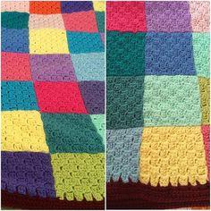 I'm very happy with the way it turned out. #crochet #cornertocorner #crocheted #crochetblanket #handmade by allybridget