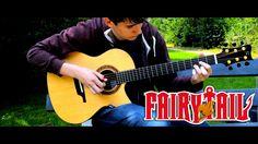 Fairy Tail Main Theme Slow (Solo Acoustic Guitar) Eddie van der Meer  [R...