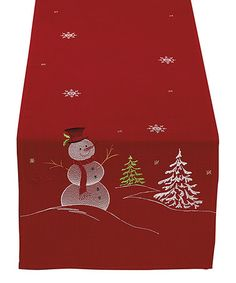 Look what I found on #zulily! Snowman Embroidered Table Runner #zulilyfinds