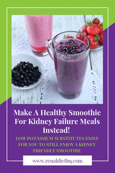 It may seem impossible to enjoy kidney-friendly smoothies. But smoothies are the perfect way to enjoy a healthy meal in the morning or anytime, and it is especially important to know about smoothies for dialysis patients. Understanding how to make a low p Easy Green Smoothie Recipes, Diet Smoothie Recipes, Green Detox Smoothie, Healthy Green Smoothies, Smoothie Diet, Paleo, Keto, Renal Diet Menu, Dukan Diet