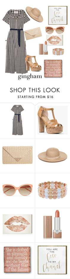 """""""Strong personality"""" by martina-b33 ❤ liked on Polyvore featuring Solid & Striped, MICHAEL Michael Kors, JNB, Collection XIIX, Linda Farrow, Liz Claiborne, Oliver Gal Artist Co. and Marc Jacobs"""