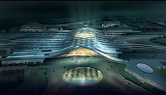 Tianjin RR Station by de architekten Cie - ended when two winners were announced