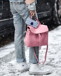 Bag: tumblr pink bucket jeans denim blue jeans cuffed jeans sneakers white sneakers converse white