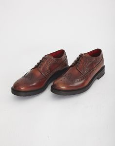 Base London Davy Chunky Brogue Tan | Shop men's shoes and clothing at The Idle Man Men's Shoes, Dress Shoes, Formal Shoes, Brogues, Oxford Shoes, Lace Up, Footwear, Base, Man Shop
