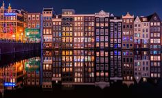 Always Amsterdam :-) by remoscarfo Pretty Lights, Future City, Amsterdam, Multi Story Building, Explore, Travel, Board, Houses, Inspiration