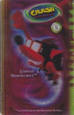 CARD CARTA 3D  CRASH BANDICOOT MR. DAY PARMALAT 2000 CARTA N.  5  OTTIMA