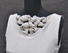 Creative Pattern Cutting - panelled dress detail with knotted neckline; sewing ideas; fabric manipulation // Carolyn Smith