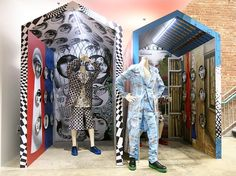 """DOVER STREET MARKET NEW YORK, """"Comme des Garcons Homme Plux x Fornasetti Installation"""", pinned by Ton van der Veer"""