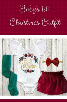 Baby Girl 1st Christmas Outfit Velvet First Christmas Dress Newborn Christmas Outfit Infant Christmas Dress 1st Christmas Dress. This is so stinking cute! #affilaite