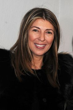 Nina Garcia Medium Layered Cut - Nina Garcia wore her hair in streaked layers during Mercedes-Benz Fashion Week.