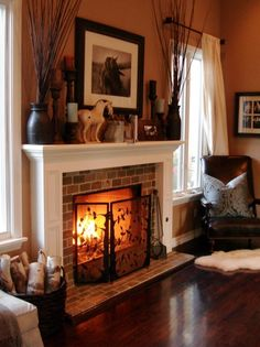 Fireplace - Makes me want to curl up in front with a cup of tea and a good book...