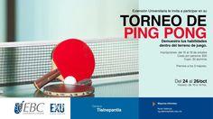¡Mucha suerte! Hoy comienza nuestro torneo de Ping Pong en #CampusTlalnepantla.