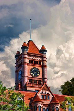 Wheaton Old DuPage County Courthouse Clouds - Constructed in 1896, and operated…