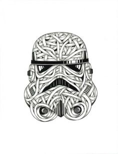 Otto Schade Storm Trooper -2016 - ink drawing on card paper - 594x420mm - edition 1 Ministry of Walls Street Art Gallery - The Urban Art Broker