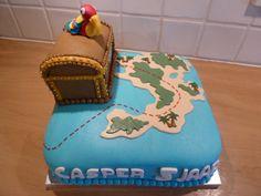 Schatkisttaart voor Casper Cake, Desserts, Food, Tailgate Desserts, Deserts, Food Cakes, Eten, Cakes, Postres