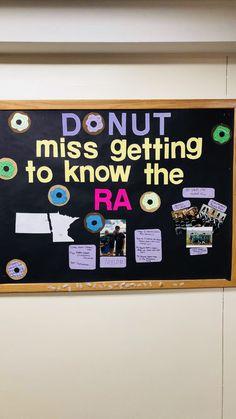 Meet your RA bulletin board! #RA #ResLife | RA Ideas | Ra ...