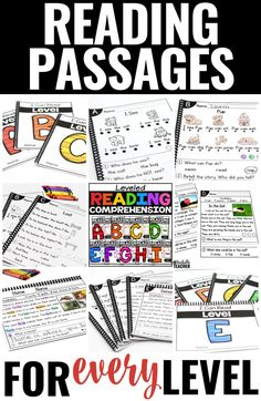No prep reading passages with leveled reading comprehension questions. These engaging reading fluency passages build fluency and reading comprehension so that you can make the most of your reading instruction or guided reading time! | kindergarten reading comprehension worksheets First grade reading passages homework Leveled reading passages teaching reading struggling readers