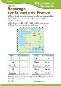 Trois documents destinées aux élèves de CE1 - CE2 pour aborder le travail sur la carte de la France. High School French, French Classroom, French Teacher, Teacher Hacks, Reading Material, Learn French, French Language, Fun Learning, Teacher Resources